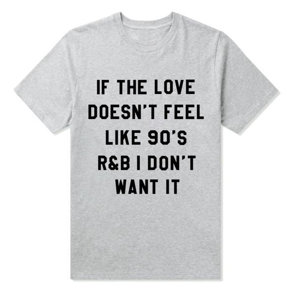 90's R & B For A Cause Tee - Black, White or Gray