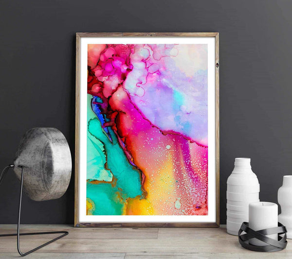 Watercolor - Abstract Personliga posters, art prints Pansarhiertadesign