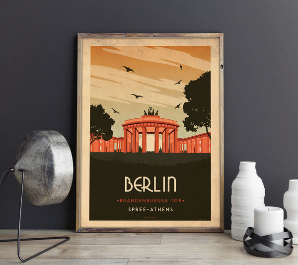 Art deco - Berlin - World collection Posters, affischer, tavlor Pansarhierta