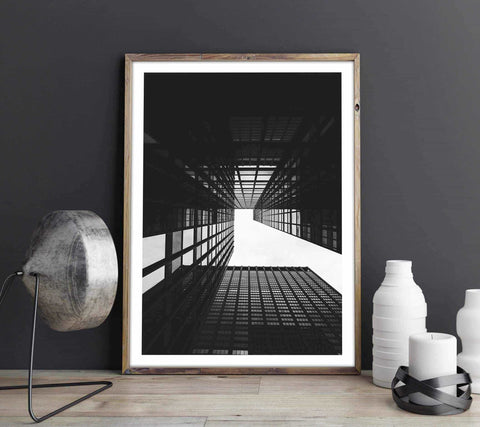 Buildings - Monochrome Personliga posters, art prints Pansarhiertadesign