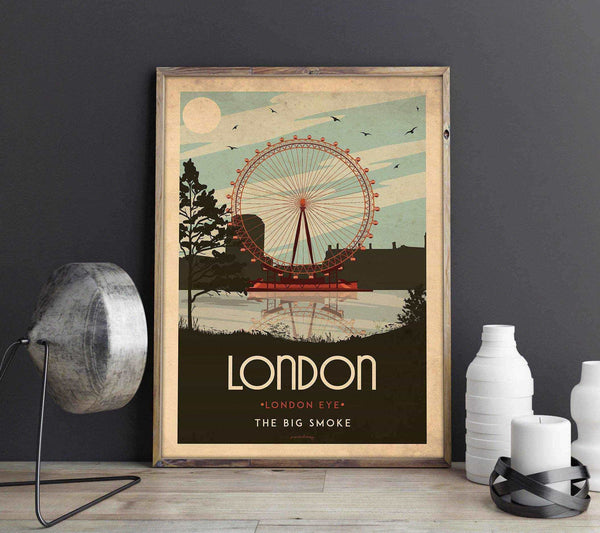 Art deco - London - World collection Posters, affischer, tavlor Pansarhierta