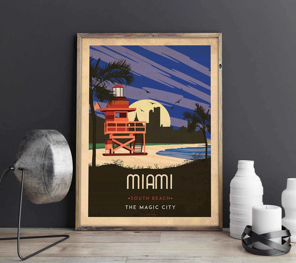 Art deco - Miami - World collection Posters, affischer, tavlor Pansarhierta