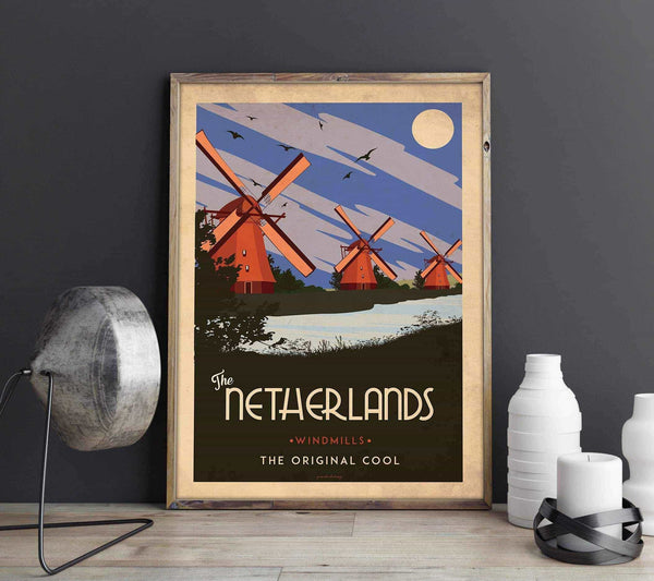 Art deco - The Netherlands - World collection Posters, affischer, tavlor Pansarhierta