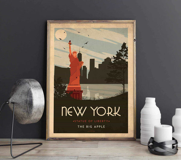 Art deco - New York - World collection Posters, affischer, tavlor Pansarhierta