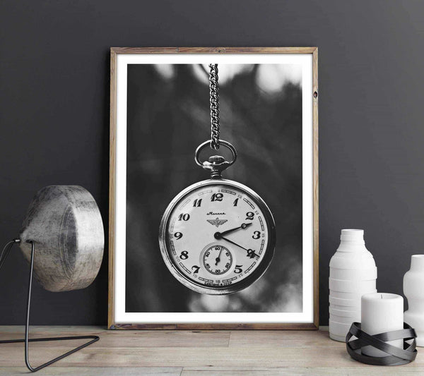 Pocket Watch - Monochrome Posters, affischer, tavlor Pansarhiertadesign