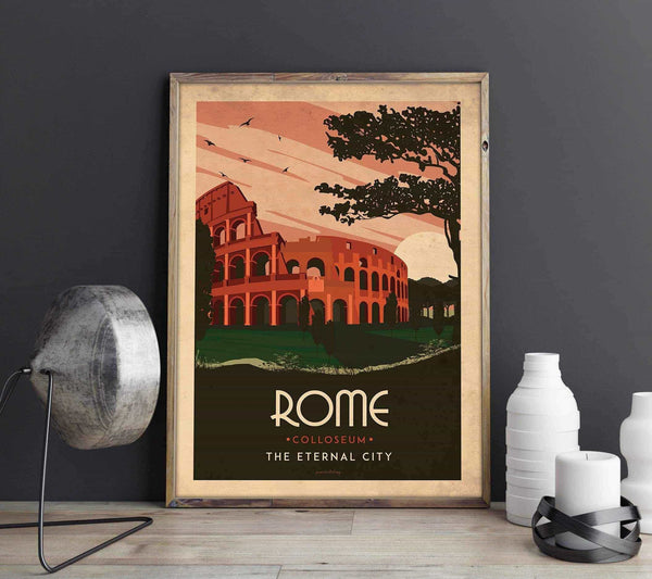 Art deco - Rome - World collection Posters, affischer, tavlor Pansarhierta