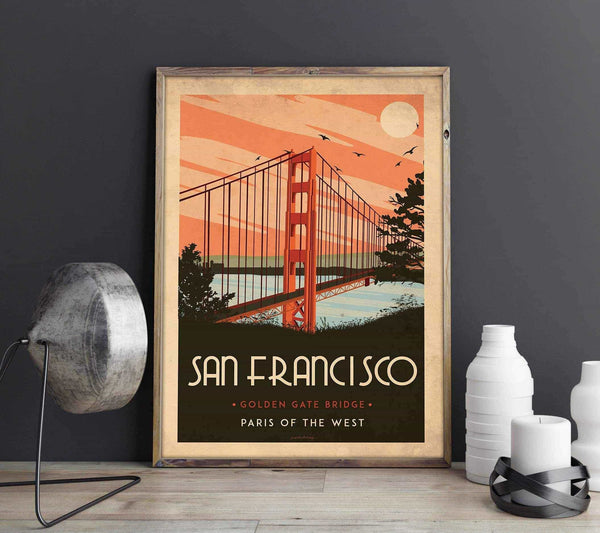 Art deco - San Francisco - World collection Posters, affischer, tavlor Pansarhierta