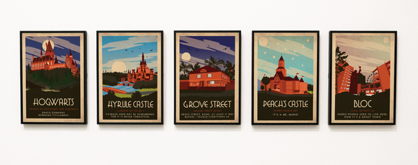 Art deco - Super Mario - World collection Posters, affischer, tavlor Pansarhierta