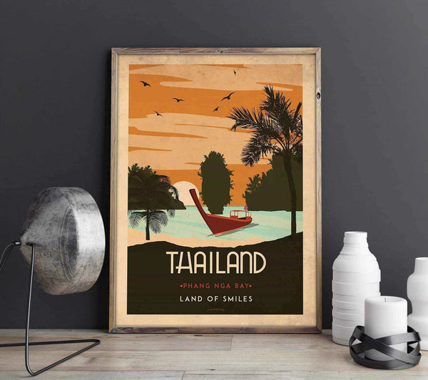 Art deco - Thailand - World collection Posters, affischer, tavlor Pansarhierta