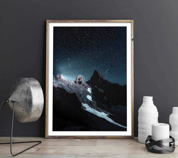 Three peaks Personliga posters, art prints Pansarhiertadesign