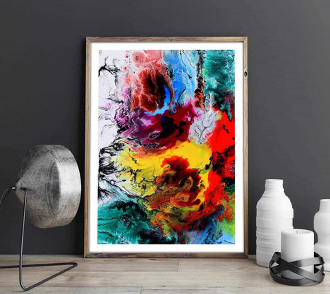 Oil painting - Abstract Personliga posters, art prints Pansarhiertadesign