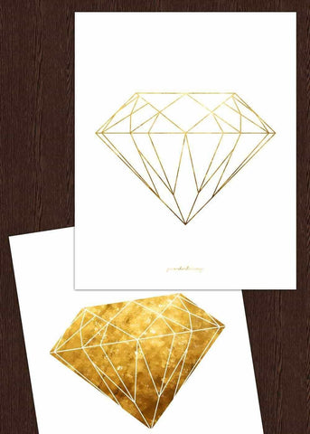 Line art - Diamonds Personliga posters, art prints Pansarhiertadesign