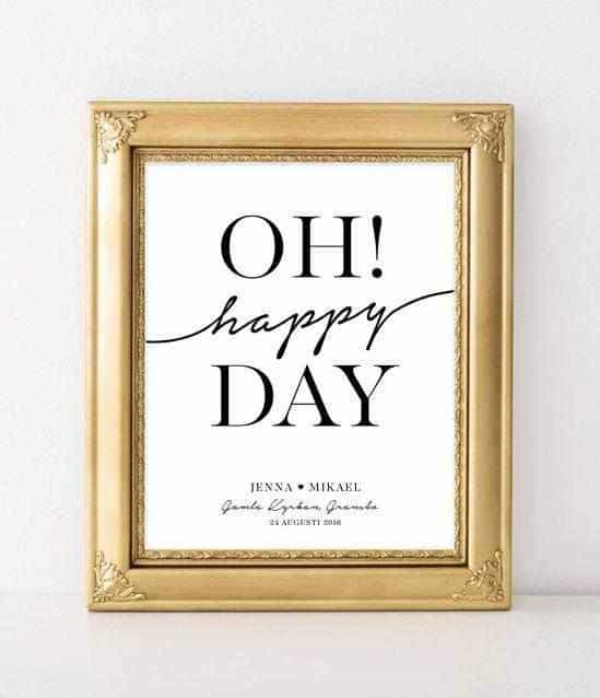Oh Happy Day Personliga posters, art prints Pansarhiertadesign