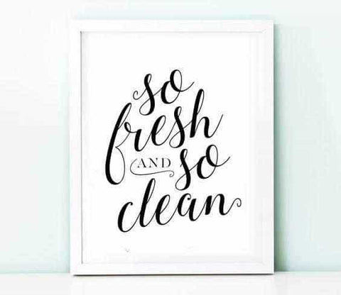 So fresh and so clean Personliga posters, art prints Pansarhiertadesign