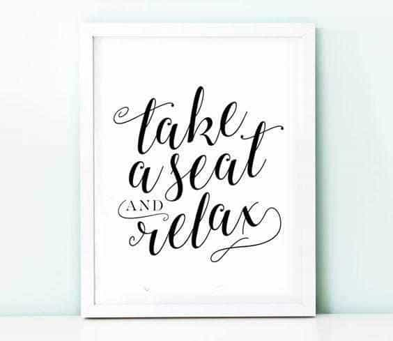 Take a seat and relax Personliga posters, art prints Pansarhiertadesign