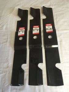 "Set of 3 Oregon Blades For 60"" Cut Exmark Mowers 492-730 - AgUpOnline"