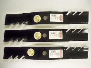Set of 3, Made In USA Gator 3-In-1 Mulching Blades For John Deere M127500, M127673, or M145476 - AgUpOnline