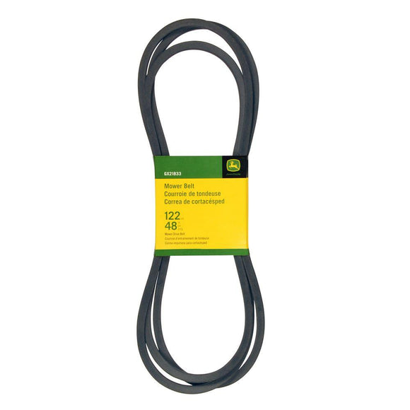 John Deere 48 in Deck Drive Belt GX21833 For D140, D150, D155, D160, Z255, Z355E - AgUpOnline