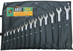 14pc John Deere SAE Combination Wrench Set  - TY19918 - AgUpOnline
