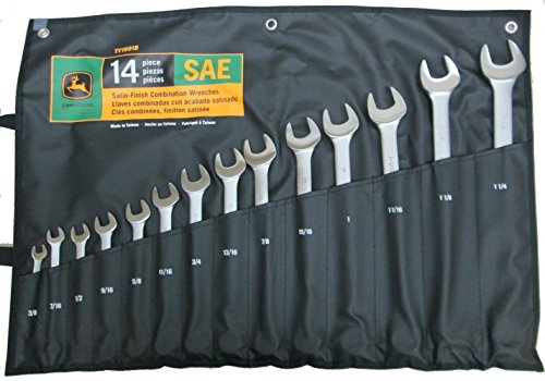 John Deere SAE Combination Wrench Set 14 Pieces - TY19918 - AgUpOnline