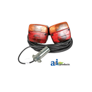 Magnetic Trailer Light Kit With Case , 39' Cable & 7 Pin Plug - AgUpOnline