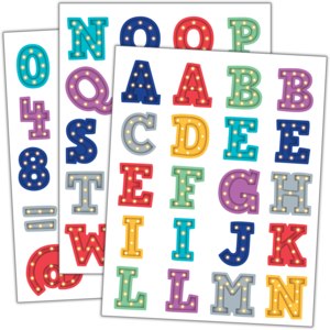 Stickers - Marquee Alphabet