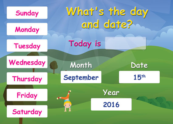 Interactive Poster: What's the Day and Date?