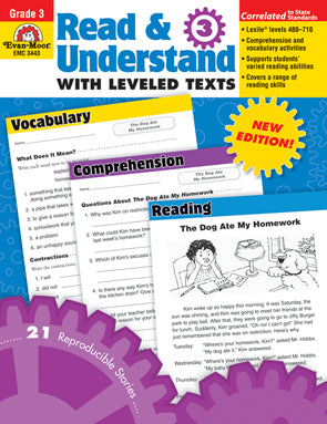 Read and Understand with Leveled Texts Gr. 3