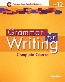 Grammar for Writing 2014 12 Gold