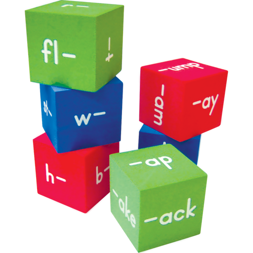 TCR Foam Word Families Cubes