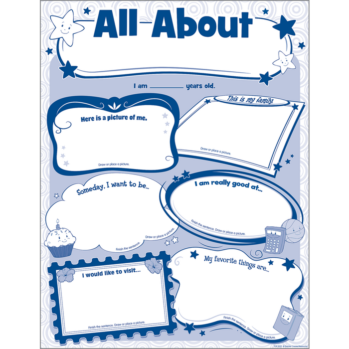 Interactive Poster Set: All About Me (Pack of 32)