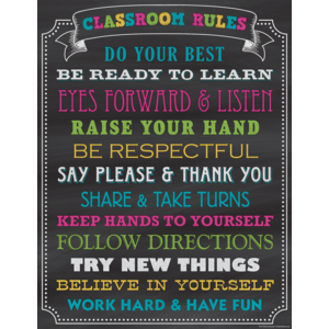 Poster: Chalkboard Brights Classroom Rules