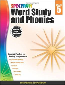 Spectrum Word Study and Phonics Grade 5 2015