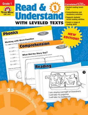 Read and Understand with Leveled Texts Gr. 1