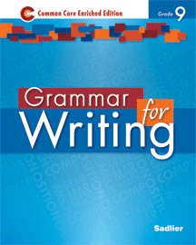 Grammar for Writing 2014 9 Blue