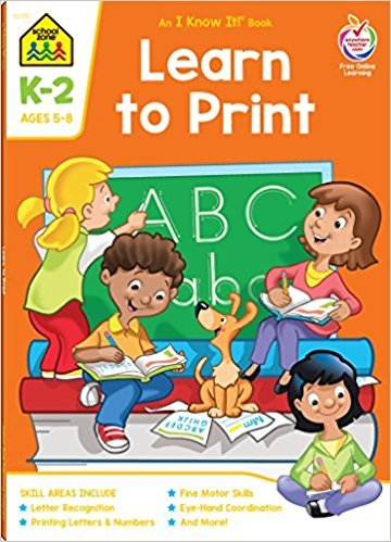 School Zone Learn To Print K-2