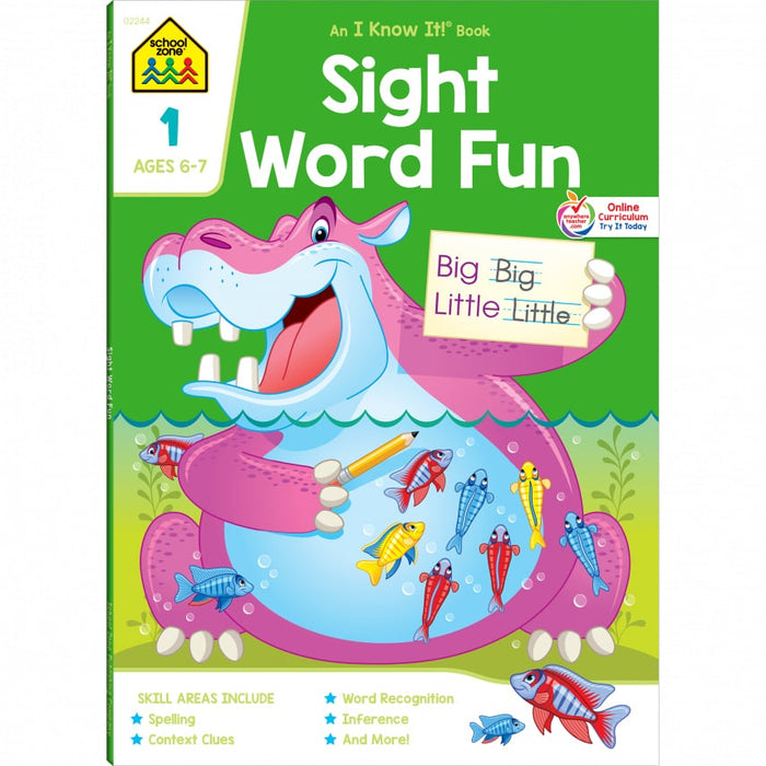 School Zone Sight Word Fun Grade 1