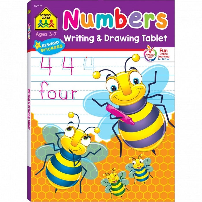 Numbers Writing & Drawing Tablet Ages 3-7