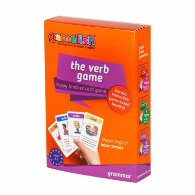 Gamelish - The Verb Game - in 4 basic tenses