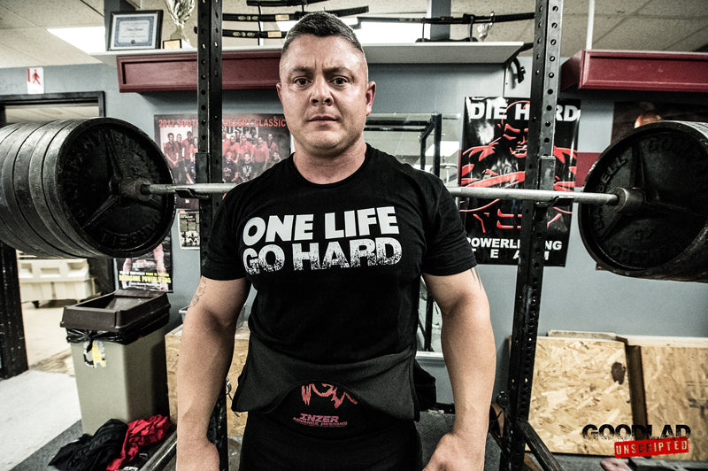 Ben O'Brien Squats 750lbs In His New One Life Go Hard Shirt