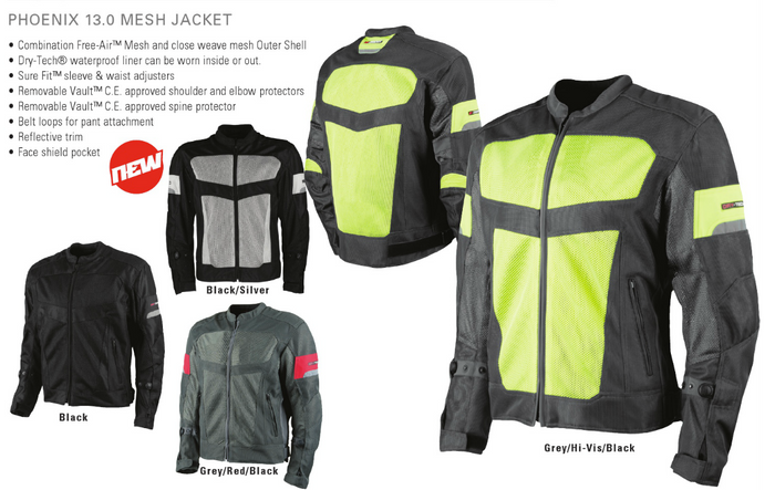 MESH Armoured Jackets - Joe Rocket