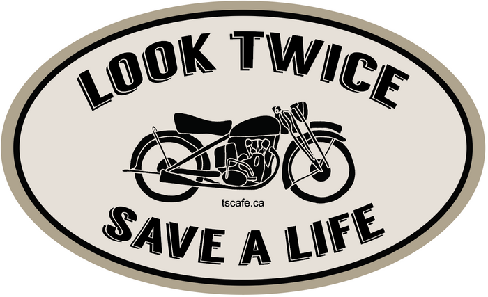 "Look Twice Decal - 4"" REFLECTIVE"