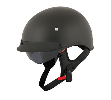 Joe Rocket Half Helmet Mat Black