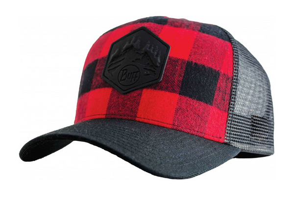 Buff - Trucker Hat - Red Plaid