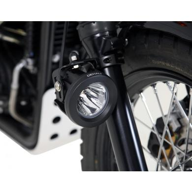DENALI 50mm-60mm Tube Mount Kit For Mounting Auxiliary Lights To Inverted Fork Tubes | Black