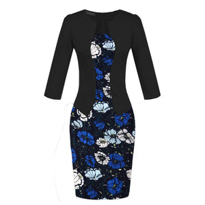 Office Style Dress Spring Summer Dress Office Formal Black Red Dot Print Plus Size Vestidos De Festa Women Clothing Work Wear Pencil Bodycon Dress