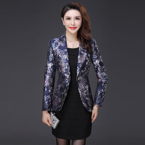 Blazer High Quality New Autumn Winter Women Jacquard Suit Coat Fashion Female Blazers And Jackets