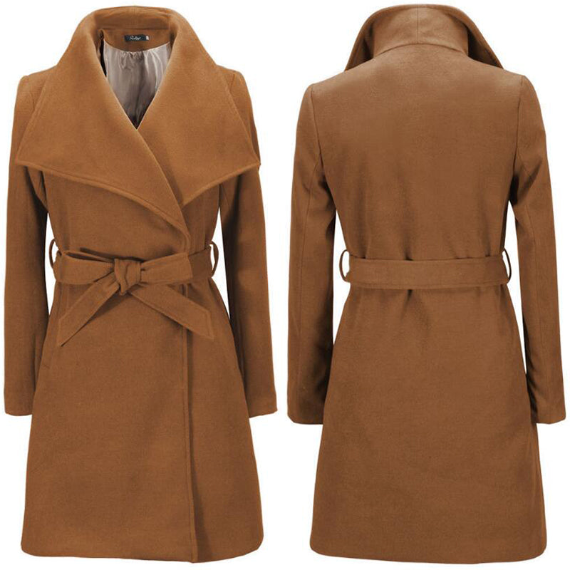 Topcoat Coats Women Warm Female Overcoat New Winter Fashion Women Basic Coat Topcoat For Women European and American Cloak Style