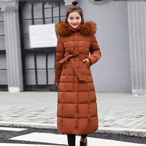 Parka X-Long 2019 New Arrival Fashion Slim Women's Winter Jacket Cotton Padded Warm Thicken Ladies Coat Long Coats Parka Women's Jackets