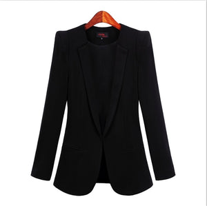 Blazer 2019  Small Suit Jacket Women Autumn Spring New Long Sleeve Hidden Breasted Work Blazer Suit 3XL 4XL 5XL Plus Size
